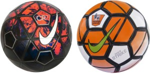 Retail World nike cr-7 n orange ordem combo Football -   Size: 5