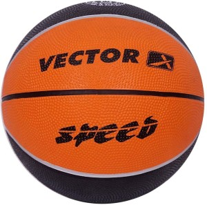 Vector X BB-SPEED-ORG-BLK-5 Basketball -   Size: 5