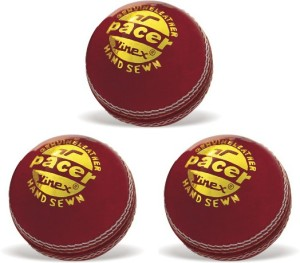 Vinex Cricket Ball - Pacer (Pack of 3 Pcs) Cricket Ball -   Size: 5