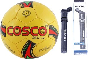 Cosco BERLIN Football With Pump Size-5 Football -   Size: 5