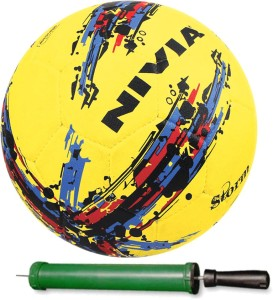 Nivia Storm Ball Size-5 Football With Pump Football -   Size: 5