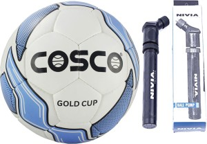 Cosco GOLD CUP Football With Pump Size-5 Football -   Size: 5