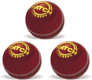 Vinex Cricket Ball - Match (Pack of 3 Pcs) Cricket Ball -   Size: 5