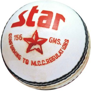 CW Star White Cricket Ball -   Size: Full Size