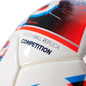 wholesale dealer 0741d 04107 Adidas EURO16 COMP Football - Size 5Pack of 1, White, Blue, Red, Silver