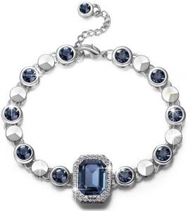 3dbf6ee76a22 Yellow Chimes Alloy Swarovski Crystal Rhodium Bracelet Best Price in India