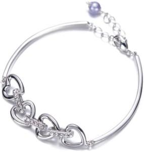 12f8d055a256 Nevi Brass Swarovski Crystal Rhodium Bracelet Best Price in India ...