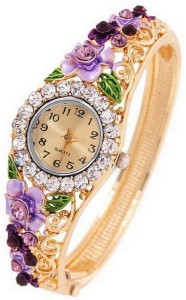 Jewels Galaxy Alloy Cubic Zirconia 24K Rose Gold Charm Bracelet