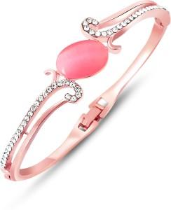 Aaishwarya Alloy Crystal Rose Gold Bracelet