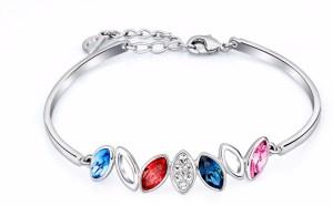 399983b911c6 Nevi Metal Alloy Crystal Brass Swarovski Crystal Rhodium Bracelet Best  Price in India