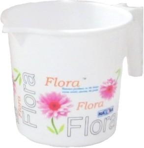 Flora Plastic Bath Mug ( White 1 )