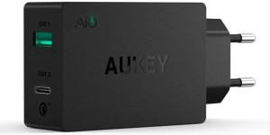 Aukey 3.0 Quick Charge USB Type-C Dual-Port Mobile Charger