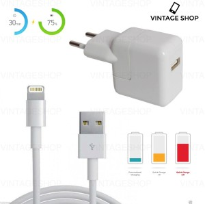 Vintage Shop 12W USB Hi Speed Power Adapter for Iphone 5,5S,6,6S,6plus,6SPlus,7,7 Plus,Ipad,Ipod Mobile Charger