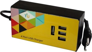 Technology Uncorked 15 Watt 4 port USB Charger for Handheld Devices & Mobiles Mobile Charger