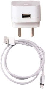 Trost 1.5A Wall Adapter with White Fish Net Metal Charging/Sync Micro USB Cable For Motorola X Play Mobile Charger