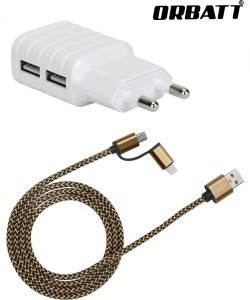 Orbatt CHR2-USB2in1-Golden Mobile Charger