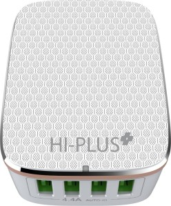HI-PLUS H444C Wall Charger with 4 USB Port 4.4A Rapid Charge Mobile Charger