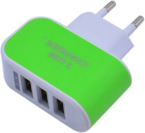 Cool 3 USB port Wall Adapter Mobile Charger