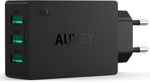 Aukey PA-U35 3 Port 30W USB Wall Charger with Ai Power Smart Charging Mobile Charger