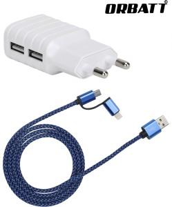 Orbatt CHR2-USB2in1-Blue Mobile Charger