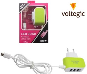 Voltegic ™ Multipurpose Wall TRAVEL Adapter Universal Mobile Charger