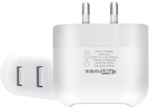 Portronics Portable USB AC Adapter 2.4AMP with Dual USB Port POR 542 Mobile Charger