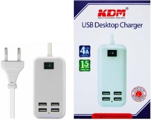 KDM Desktop 4 In 1 ( 4.0 AMP ) USB Mobile Charger