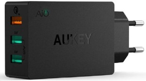 Aukey 42W 3-Port USB with Qualcomm Quick Charge 3.0 Mobile Charger