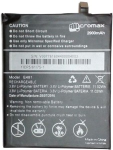 Micromax Battery - Canvas 5 E481Black