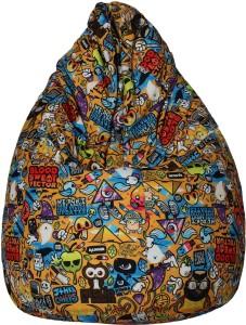 e74d5b0330 Star XL Classic Teardrop Bean Bag With Bean Filling Yellow Best ...