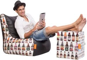 ORKA XXXL Bean Bag Chair  With Bean Filling