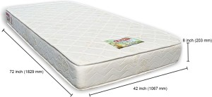 Coirfit Health Spa Active Orthopaedic 8 inch Single High Resilience (HR) Foam Mattress