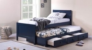 Urban Ladder Bering Trundle Solid Wood Single Bed With Storage