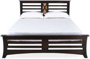 @home by Nilkamal Edge Solid Wood Queen Bed