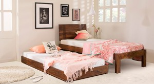 Urban Ladder Yorktown Trundle Solid Wood Single Bed