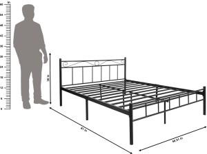 FurnitureKraft 4ft width Metal Queen Bed