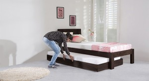 Urban Ladder Yorktown Trundle Solid Wood Single Bed