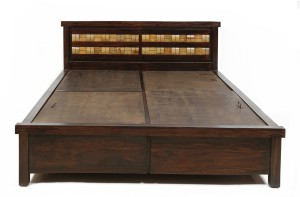 Dream Furniture Solid Wood King Bed With Storage