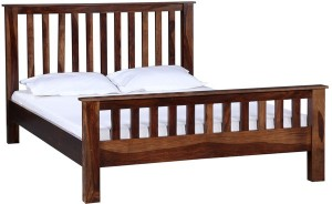 Home Edge Solid Wood Queen Bed