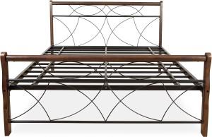 FurnitureKraft Monaco Metal Queen Bed