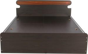 Kurlon CURVY Engineered Wood King Bed With Storage