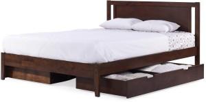 Urban Ladder Brandenberg Solid Wood Queen Bed With Storage
