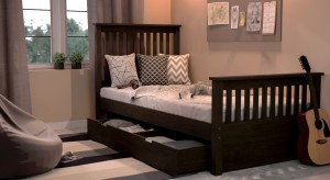 Urban Ladder Athens Solid Wood Single Bed With Storage