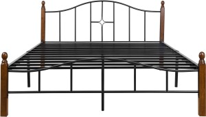 FurnitureKraft Kansas Metal Queen Bed