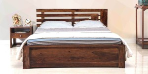 Amaani Furniture's Solid Wood Queen Bed With Storage