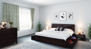 Urban Ladder Stockholm Solid Wood King Bed With Storage