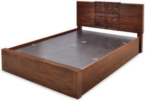 @home by Nilkamal Monalisa Solid Wood King Bed With Storage