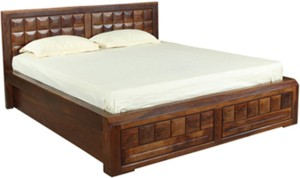HomeTown Woodrow Solid Wood Queen Bed With Storage