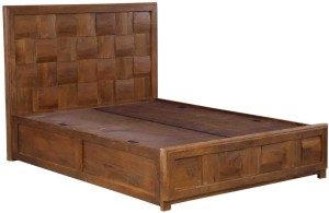 Evok Royal Solid Wood Queen Bed With Storage