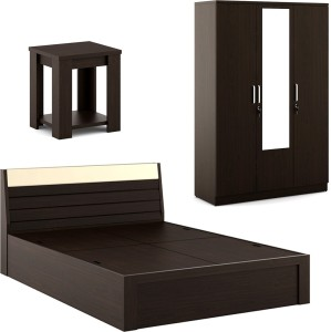 Spacewood Engineered Wood Bed Side Table Wardrobe Finish Color ...